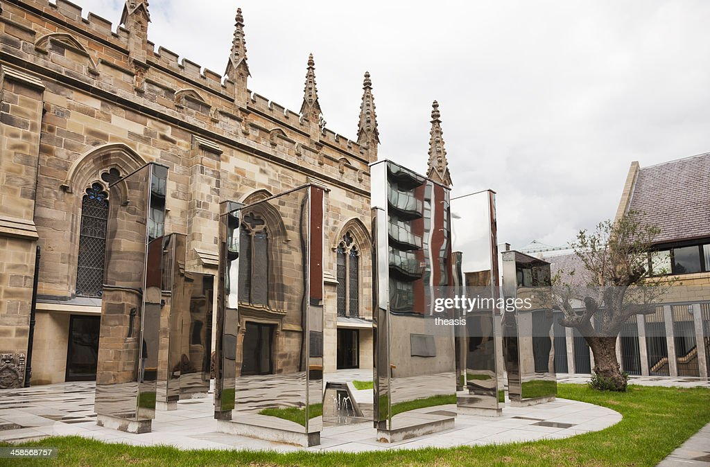 Cloister Gardens in St Andrew's Cathedral, Glasgow : Stock Photo