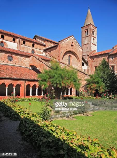 Cloister In The Cistercian Abbey Abbazia Di Staffarda Near Saluzzo Piedmont Italy
