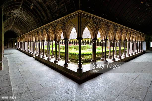 Cloister of Mont Saint-Michel, France