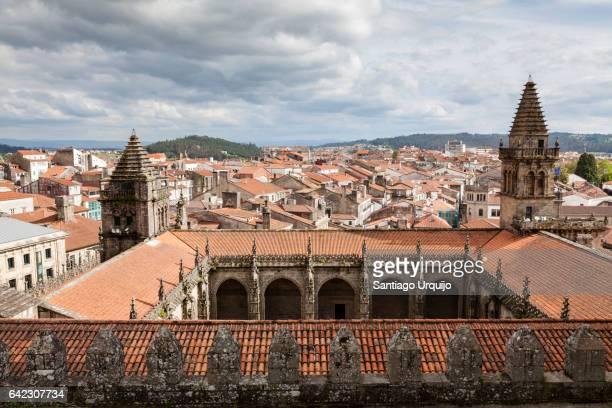 cloister of santiago de compostela cathedral - santiago de compostela stock pictures, royalty-free photos & images