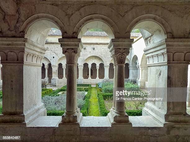 Cloister of Senanque Abbey in Provence, France