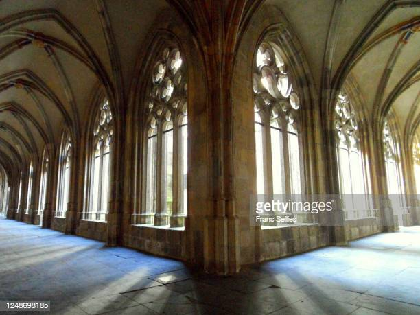 cloister of the dom church, utrecht, the netherlands - frans sellies stockfoto's en -beelden