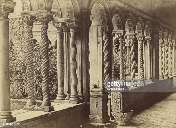 Cloister San Paolo Rome Tommaso Cuccioni 1850 1859 Albumen silver print