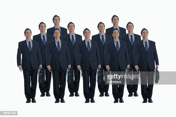 cloned businessmen - cloning stock pictures, royalty-free photos & images