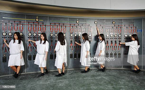 cloned girl - labor camp stock pictures, royalty-free photos & images