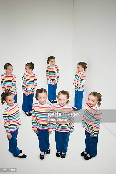 cloned girl - cloning stock pictures, royalty-free photos & images