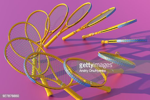 Clones of tennis rackets forming circle