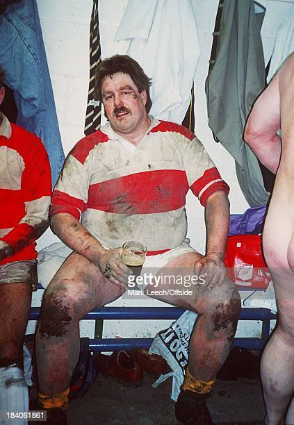 Clontarf v Upper Clapton veterans rugby union Upper Clapton forward Nick Slate drinks a hardearned pint while still wearing his muddy kit in the...