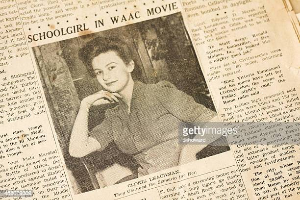 cloris leachman, age 17, in waac movie - article stock pictures, royalty-free photos & images