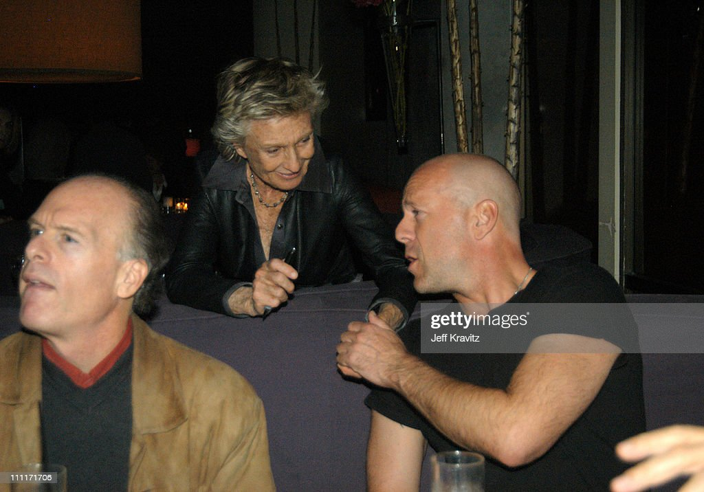 Cloris Leachman and Bruce Willis during 'Bad Santa' - Los Angeles Premiere and After-Party at Bruin Theater in Westwood, California, United States.