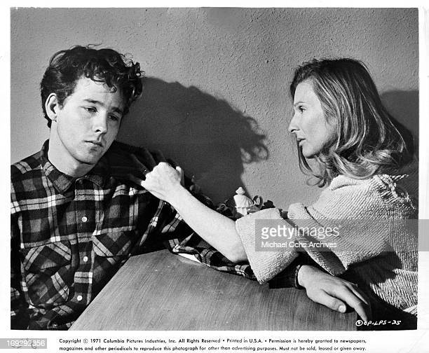 Cloris Leachman makes an advance on Timothy Bottoms in a scene from the film 'The Last Picture Show' 1971