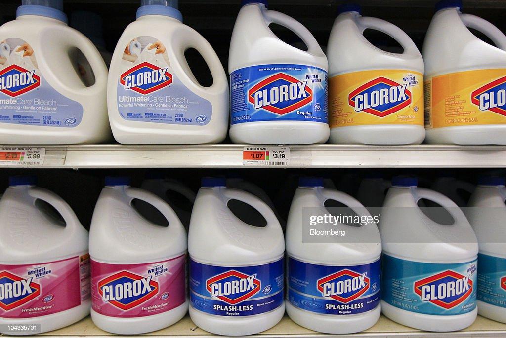 Clorox Regular Bleach Bottles Sit On A Store Shelf In New York US