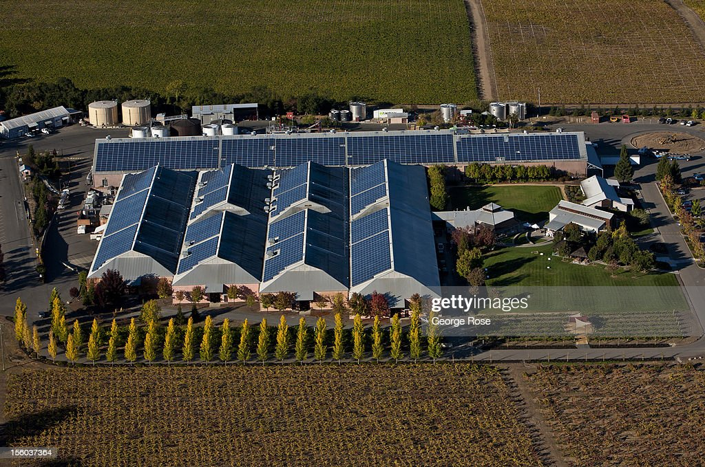 Sonoma County Wine Country From Above : News Photo