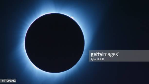 close blue total solar eclipse - annular solar eclipse stock pictures, royalty-free photos & images
