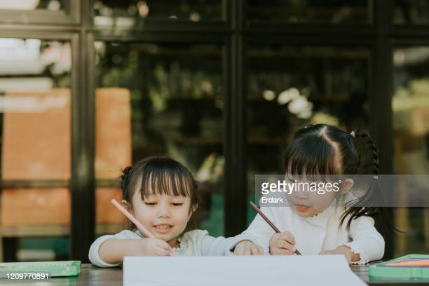 close friend enjoy drawing on weekend for relaxation - thinking of you card stock pictures, royalty-free photos & images