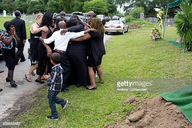 Close friends and family attend the burial service for Ethel Lance one of the nine parishioners killed by a racist gunman at the historical Emanuel...