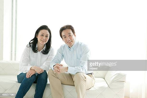 A close middle-aged couple