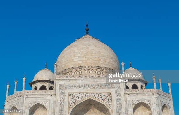 close of details on the taj mahal in agra india. - empty tomb stock pictures, royalty-free photos & images