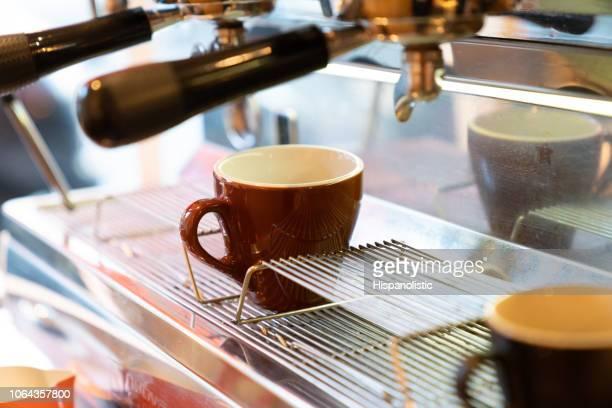 Close of of a coffee machine