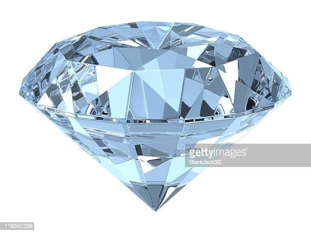 close of up a diamond on white background - stone object stock pictures, royalty-free photos & images