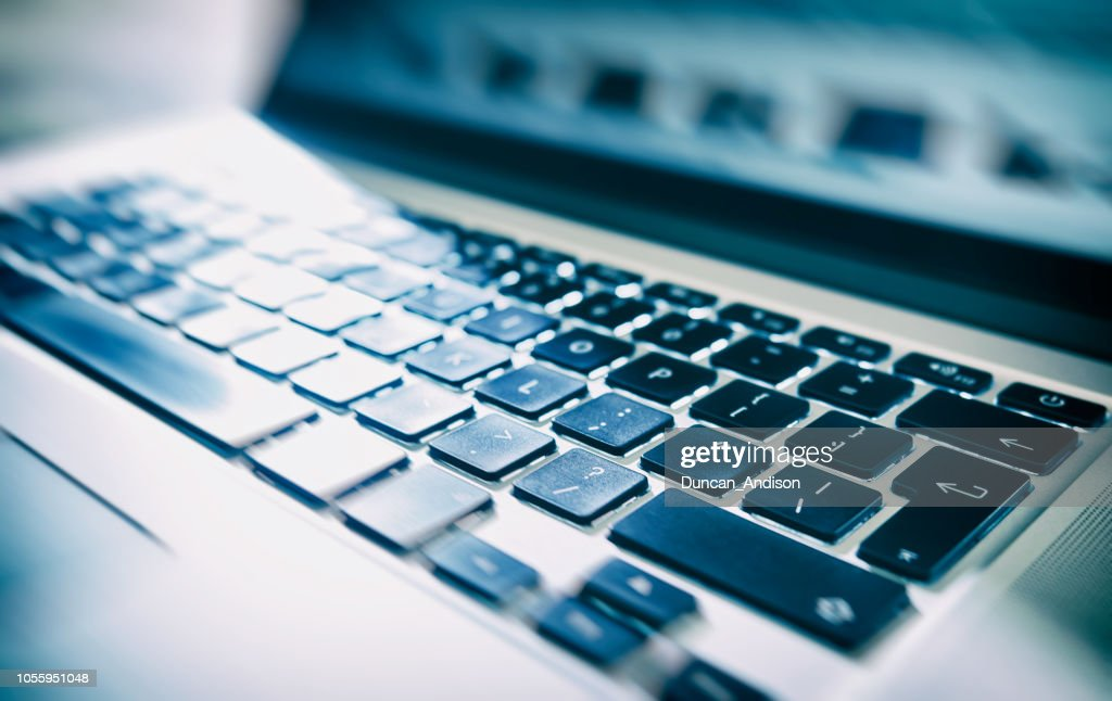 Nahaufnahme, abstrakte Bild eines Laptops, Computer-Tastatur. : Stock-Foto