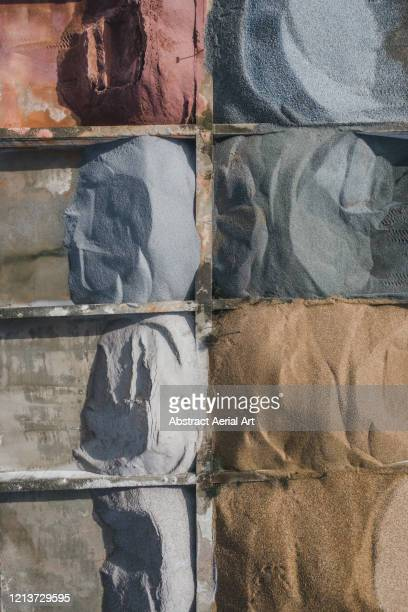 close up aerial image of construction materials, le mans, france - sarthe stock pictures, royalty-free photos & images