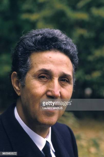 Close up Ahmed Ben Bella premier président de l'Algérie indépendante le 30 octobre 1986 à Genève Suisse