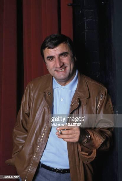 Close up Aldo Maccione acteur en décembre 1984 en France