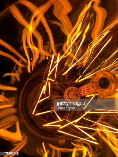 close up details led electric filament