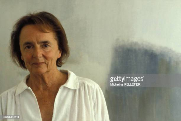 Close up Anne Philipe romancière veuve de Gérard Philipe le 9 juillet 1982 en France