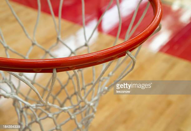 Close Up Basketball Hoop From Above