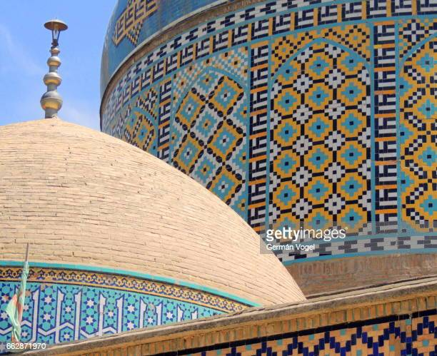 Close up beautiful mosque dome mosaics - Neishabur, Iran