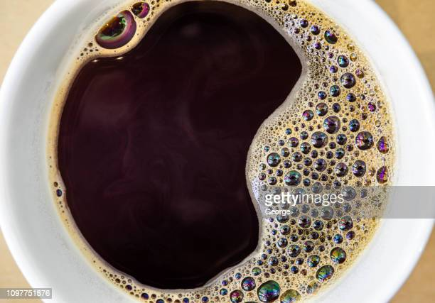 close up, black coffee, hot drink - caffeine stock pictures, royalty-free photos & images