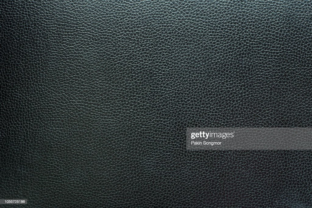 Close up black leather and texture background : Stock Photo