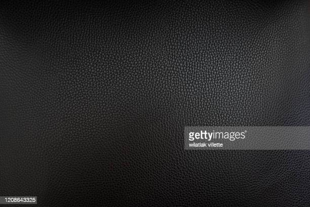close up black leather and texture background - black border stock pictures, royalty-free photos & images