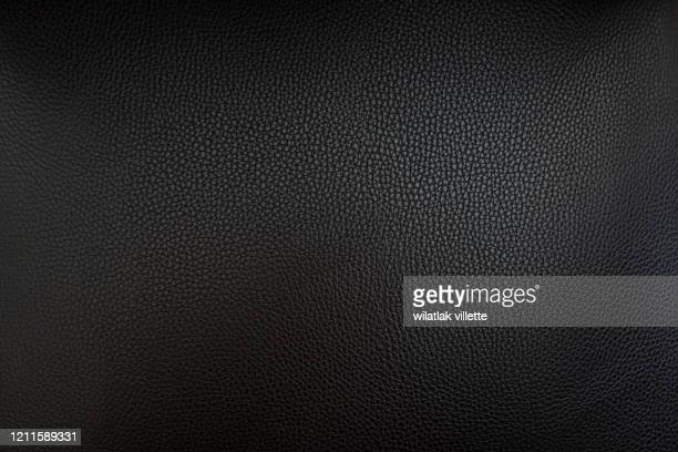 close up black leather and texture background - leather stock pictures, royalty-free photos & images