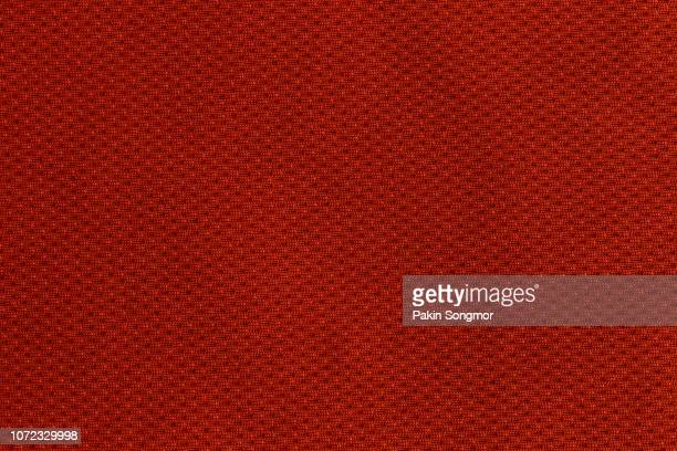 Close up Brown or Red fabric texture. Textile background.