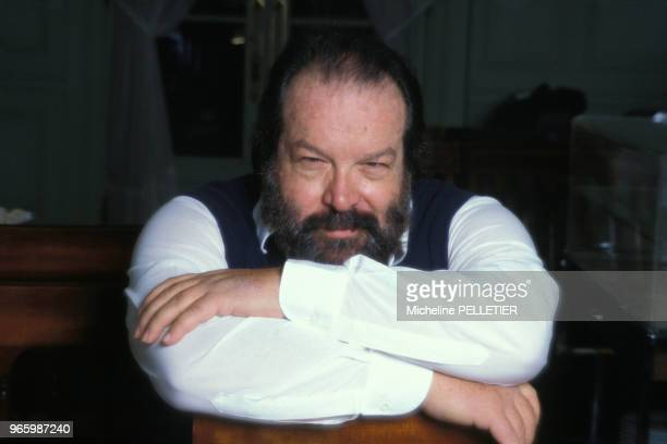 Close up Bud Spencer acteur le 29 novembre 1986 à Paris France