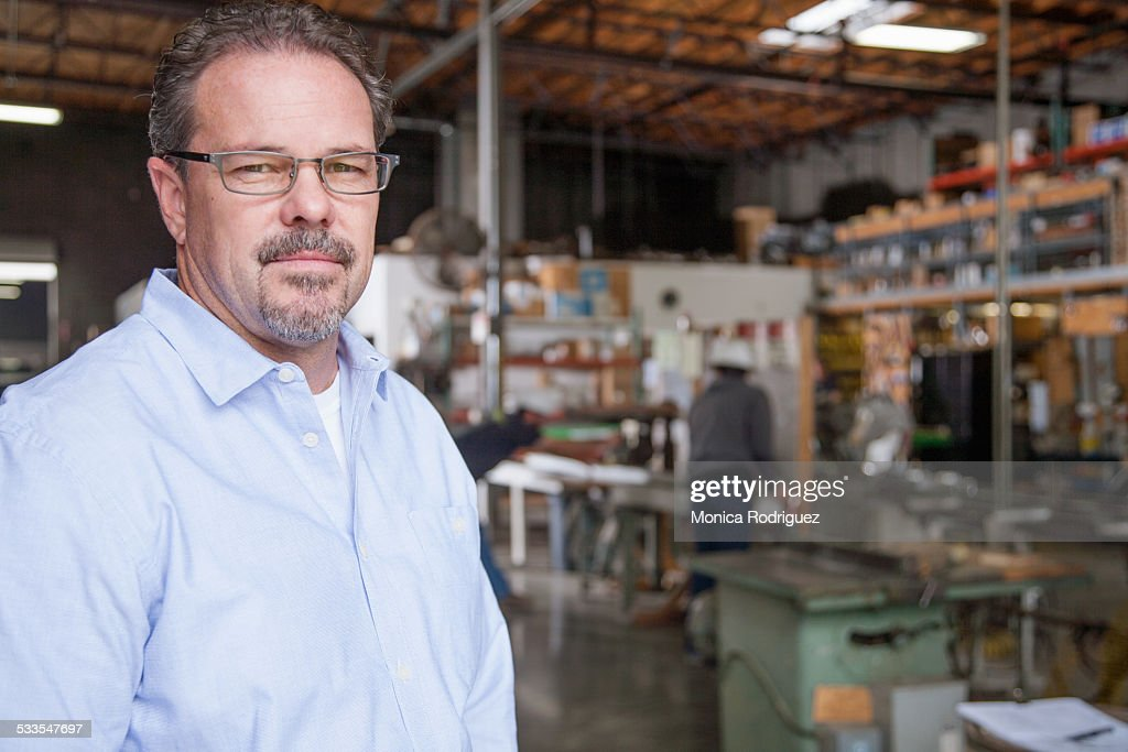 Close up business owner portrait : Stock Photo