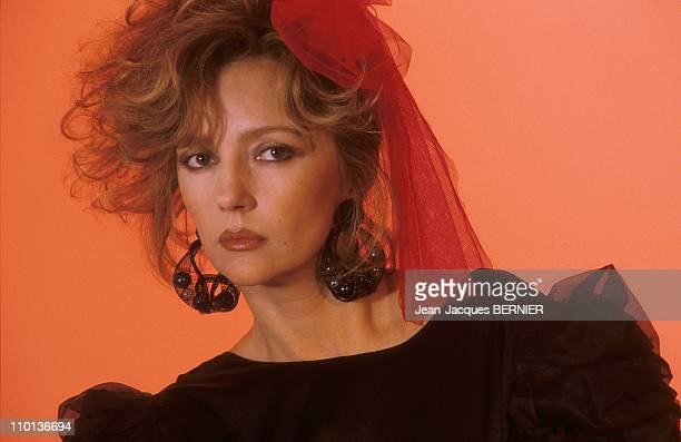 Close up Caroline Cellier in ParisFrance on January 3rd1985