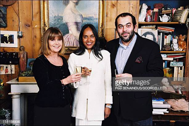 Close up Chantal Goya with family in Paris France on November 17 1999 Chantal and her son Jean Paul and beautiful daughter Brenda