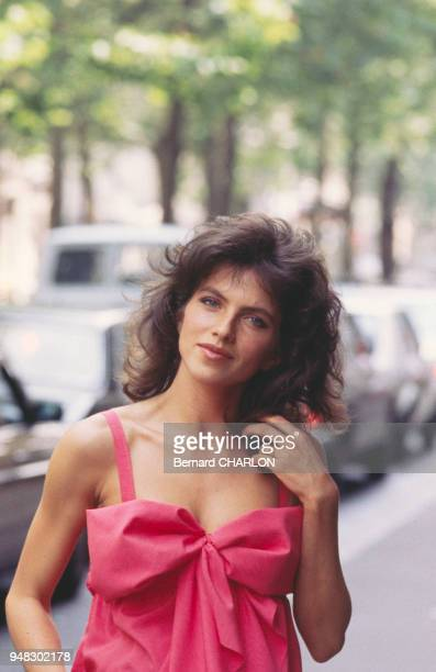 Close up Clio Goldsmith actrice le 4 juillet 1983 à Paris France
