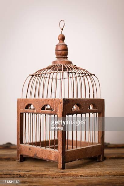 Close up, Color Image of Vintage Bird Cage