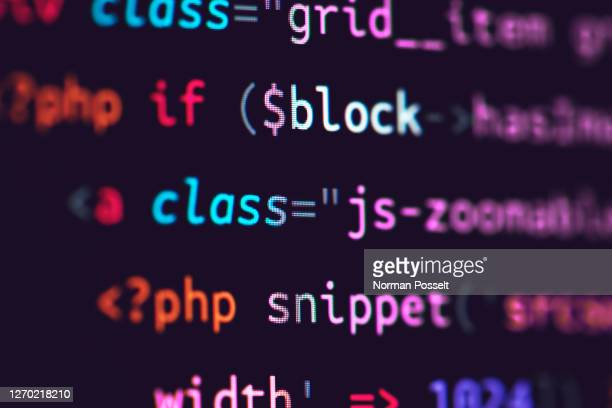 close up computer code on screen - coding stock pictures, royalty-free photos & images
