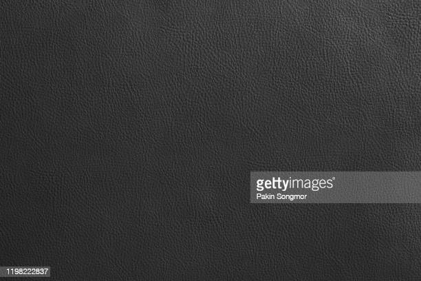 close up detail black leather and texture background - leather stock pictures, royalty-free photos & images