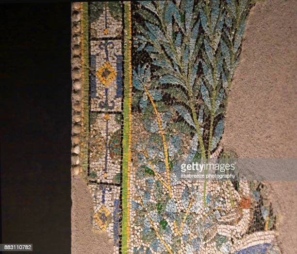 close up detail of a mosaic in pompeii - mosaic stock photos and pictures