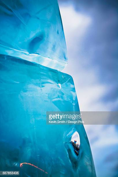 Close up detail of an ice block
