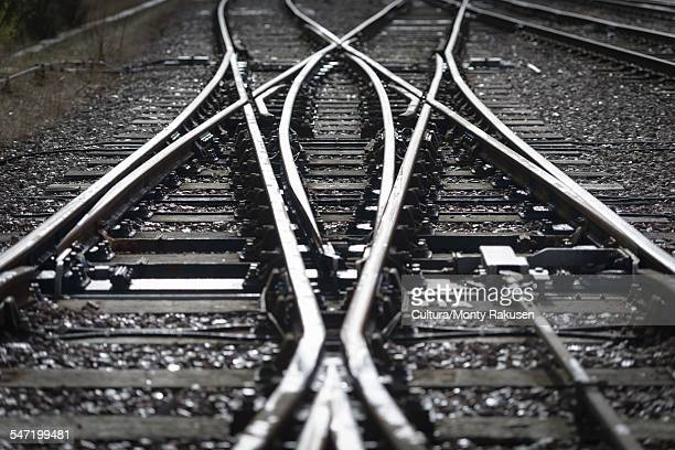 close up detail of railway line - carriage stock pictures, royalty-free photos & images