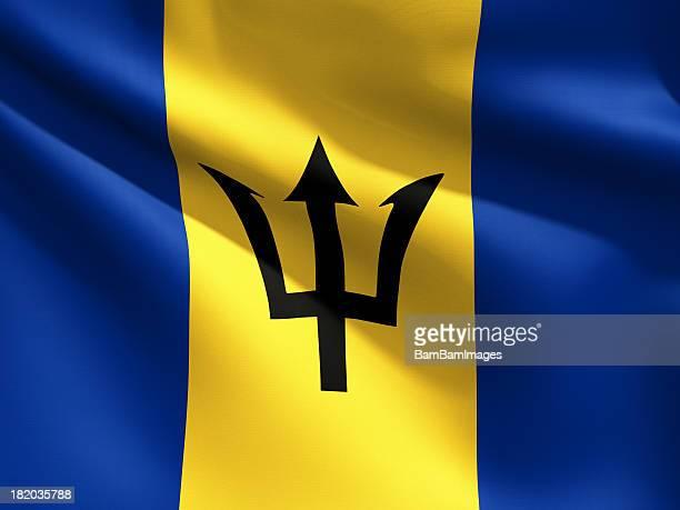 Close Up Flag - Barbados