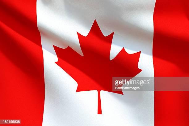 Close up Flag - Canada
